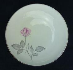 Rose Zylstra China Salad Plate Pink Roses Gray Leaves BIN $5.99 ebay
