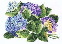 shibonnu: EVA ROSENSTAND hydrangea Hortensie cross-stitching kit Denmark North Europe embroidery - Purchase now to accumulate reedemable points! Cross Stitch Kits, Cross Stitch Patterns, Cross Stitching, Cross Stitch Embroidery, Floral Pillows, Bird Patterns, Yarn Shop, Cross Stitch Flowers, Stuffed Animal Patterns