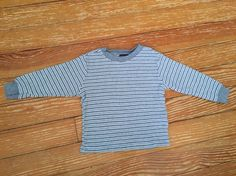 Faded Glory 24 months grey striped thermal long sleeve shirt