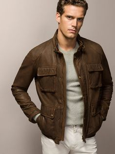 VINTAGE NAPPA LEATHER JACKET - Leather jackets - MEN - Turkey