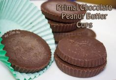 Paleo Chocolate Peanut Butter Cups (Primal) - My Little