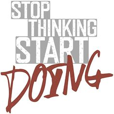 Wall decal fitness, wall decal stop thinking - start doing, wall decal gym, wall decal workout, wall decal workout room sports Wall Stickers, Wall Decals, Normal Wallpaper, Fitness Tattoos, Wall Tattoo, Stop Thinking, Workout Rooms, Own Home, How To Remove