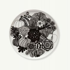 Marimekko Siirtolapuutarha Flower Plate 20 cm (190) - Dinnerware - Kitchen and Tableware | Cloudberry Living