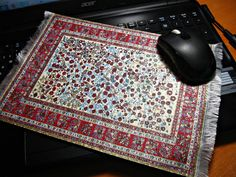 Carpet MOUSE PAD Turkish Ethnic Kilim Mouse Pad Turkey By Pulzunul