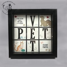 Stampin' Up! Framed Sampler Home Decor made using Happy Tails, Nine Lives and Large Letter Dies by Lisa Ann Bernard of Queen B Creations Card Making Inspiration, Making Ideas, Collage Frames, Collage Ideas, Collages, Pet Sympathy Cards, Mary Fish, Stampin Pretty, Alphabet