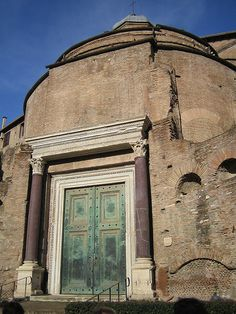 Temple of Romulus, Roman Forum. They still have the original key to open this door!!! That is just mind boggling to me, I cant even keep up with my car keys! LOL
