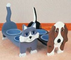 29-PET1 - Cat and Dog Dish Holders Woodworking Plan
