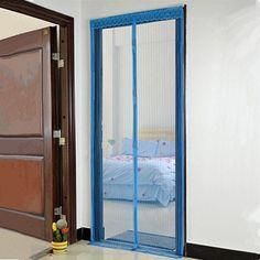 Mesh Door Curtain Bug Mosquito Net Screen Door Magnetic Screen Door Full  Frame