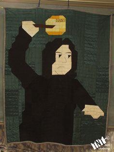 Haha, YES! Severus Snape twinsize Quilt by TNTdollclothing on Etsy, $215.00