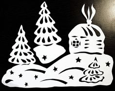 Жизнь прекрасна - Блог Наталии Юшковой.: Новогодние украшения на окна из бумаги. ФОТО.