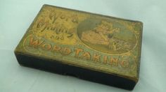 RARE-Word-Making-And-Word-Taking-Antique-VICTORIAN-Word-Game-Free-Ship