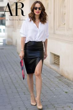 Wet Look, Leather Skirt, My Style, Skirts, Outfits, Clothes, Fashion, Moda, Kleding