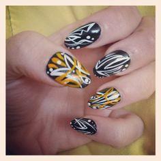 Brenda Hibdon - pinstriped nails