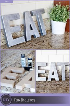 DIY Anthropologie-Inspired Faux Zinc Letters