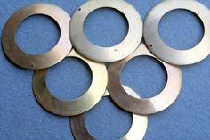 Brass Large brass rings by debsdesigns401 on Etsy, $2.50