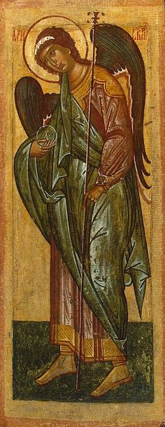 Icon: Archangel Gabriel Painting, Tempera on panel Origin: First half of century, The Hermitage Museum, St Petersburg Russia. Archangel Gabriel, Archangel Michael, Religious Icons, Religious Art, Original Paintings For Sale, Russian Icons, Byzantine Icons, Angels Among Us, Architecture Tattoo