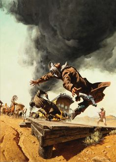 Frank McCarthy painting for Once Upon a Time in the West