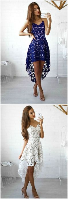 Lovely lace high low dress