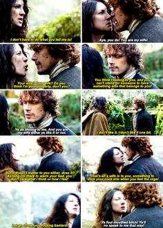 """""""I don't have to do what you tell me to!"""" - Big argument between Claire and Jamie #Outlander"""