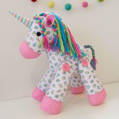 Melly & Me Pattern | Unity | Soft Toy | Unicorn | Sewing Pattern