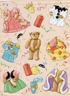 (⑅ ॣ•͈ᴗ•͈ ॣ)♡                                                             ✄Paper Doll Teddy Bear Gift Wrap