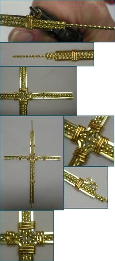 Twisted Wire Wrapped Cross Pendant Tutorial