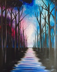 Pathway To The Galaxy by Liesl Scheppat - Paint Nite