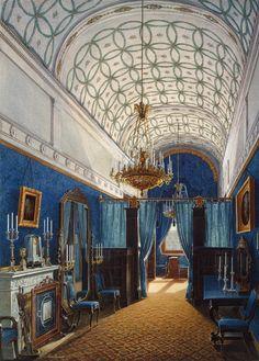 Interiors of the Winter Palace. The Dressing Room of Empress Alexandra Fyodorovna artist: Hau, Edward Petrovich