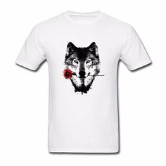 >> Click to Buy << 2017 NEW casual fashion floral printed t-shirt Cool Bloody Black Rose Beast Wolf T Shirts  Print  Brand Clothing #Affiliate