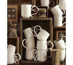 Alphabet Mugs | Pottery Barn