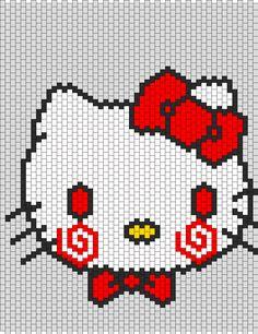 Saw Hello Kitty bead pattern