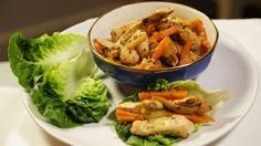 Thai Turkey Lettuce Wraps Turkey Lettuce Wraps, Lettuce Leaves, Protein Rich Diet, Little Gem Lettuce, Coriander, Stir Fry, Thai Red Curry, Chicken, Vegetables