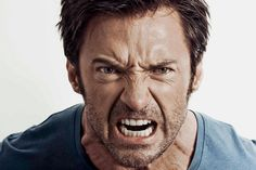 Check out Hugh Jackman Channel His Inner Wolverine in This Intense Audio-Recording Session Mad Face, Angry Face, Face Men, Figure Drawing Reference, Face Reference, Anatomy Reference, Angry Expression, Facial Anatomy, Rage