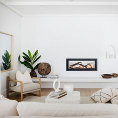 Lounge details—House 10. By Three Birds Renovations x Sophie Bell, featuring Dulux White on White.