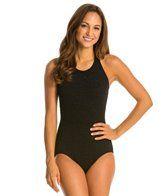 Penbrooke Krinkle Mastectomy High Neck Chlorine Resistant One Piece Swimsuit