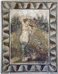 TUNISIA, Cartagine. Mosaic in Cartagine's Museum.