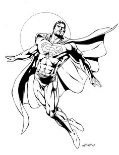 Superhero Superman Coloring Pages