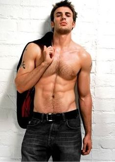 Chris Evans...Now he would make a great Christian Grey.
