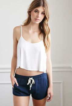 Sleepwear & Lounge | WOMEN | Forever 21 Dolphin Lounge Shorts $9.90 in the color navy small