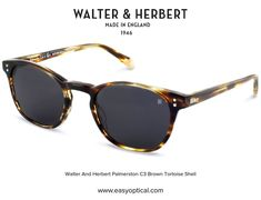 Walter and Herbert Nelson Tortoise Shell Sunglasses, Brown, Silver, England, Grey, Style, Gray, Swag, Brown Colors