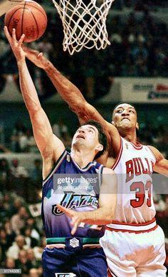 John Stockton, Scottie Pippen, Utah Jazz, Chicago Bulls, Bullshit, Nba, Hoop, Basketball, Netball