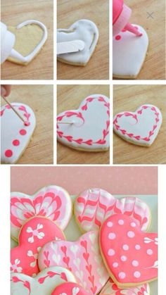 Cute heart cookies
