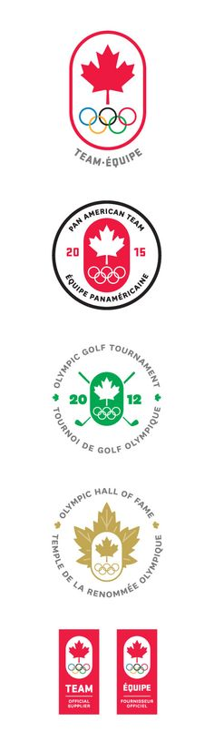 Team Canada Olympic, PanAm, and Olympic Hall of Fame logos