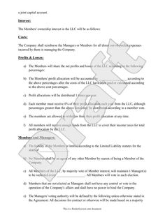 Free Llc Articles Of Organization  Use This Document To File Your