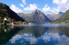 One of the many beautifully breathtaking fjords in Norway. These are the reason I fell in love with this country a few years back. :)