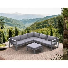 Kovary 4 Piece Sectional Set with Cushions