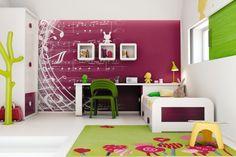 Kräftige und helle Farben im Kinderzimmer regen die Fantasie an