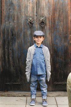 1512: Design 8 Jakke #strikk #knit Denim Button Up, Button Up Shirts, Barn, Knitting, Kids, Design, Fashion, Stapler, Young Children