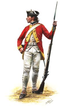 Fusilier of the French Dillon Regiment 1780, by Don Troiani. (www.dontroiani.com)