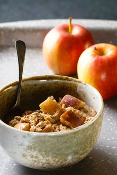 Vegan Baked Oatmeal | you don't need eggs or dairy to make this hearty, delicious baked oatmeal. Add apples, raisins and pecans for a full-on breakfast treat.